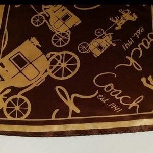 Coach Accessories - Vintage Coach Coach Silk Scarf VGUC!